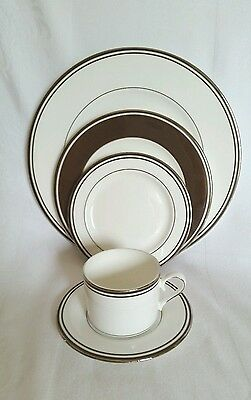 Lenox Federal Platinum China- 5-Piece Place Setting- Brown-New with tags