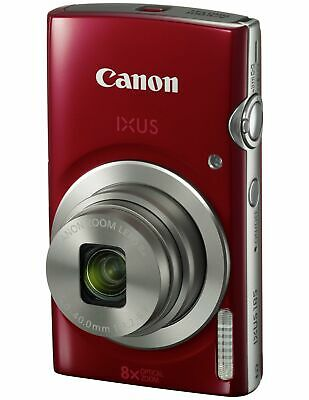 Canon IXUS 185 20MP 8x Zoom Compact Digital Camera Bundle - Red.