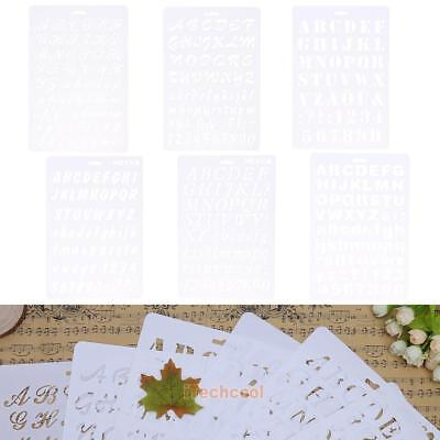 Lettering Stencil Letter Alphabet Stencils Painting Paper Craft Number Word #T1K
