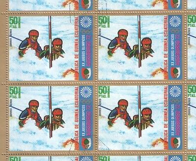 Equatorial Guinea Sheet of 1972 Munich Olympic Games Stamps MNH