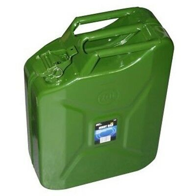 20 Litre Heavy Duty Green Metal Jerry/petrol/fuel Can Ideal For Keeping In The