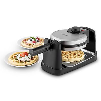 Top machine à gaufres moderne moule 4 parts 17cm rotative dessert brunch goûter