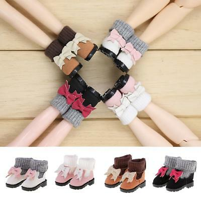 1/6 Shoes Boots w/ Bowknot Decoration for 12'' Blythe Dolls Clothing 4 Pairs