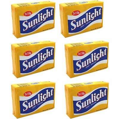 SUNLIGHT HOUSEHOLD LEMON LAUNDRY STAIN REMOVAL SOAP BAR 12 x 150G  HARD TO FIND