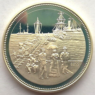 Namibia 1992 100 Years Swakopmund 1oz Silver Coin,Proof,Rare!