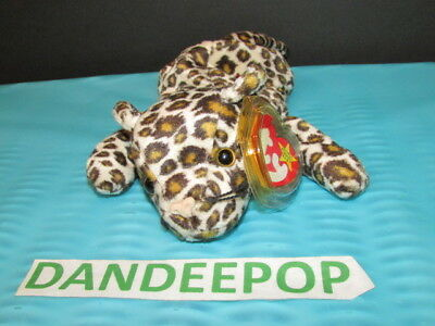 TY Retired Beanie Baby Freckles Leopard 1996 With Tags Ty