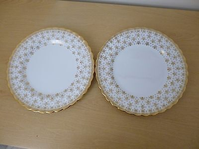 2 Spode Fleur De Lys Gold Dinner Plates - 1st Quality - 3 Sets Available