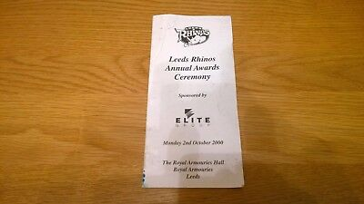 2000 Leeds Rhinos Annual Awards Ceremony Autographed
