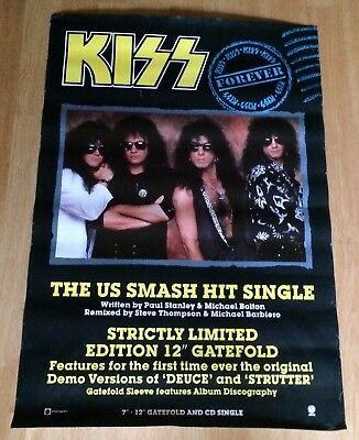 Kiss Original Shop Display Promo Poster Kiss Forever