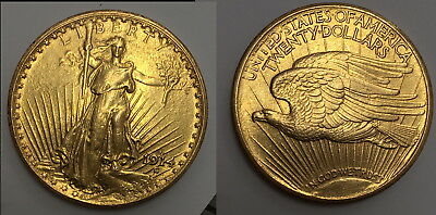 Attractive Lustrous 1914-S  $20.00 Gold  SAINT. GAUDENS--SCARCE USA CLASSIC COIN