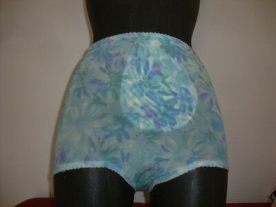 Vtg St Michael  Multi Coloured Nylon Panty Girdle Control Knickers 39-40 Hips