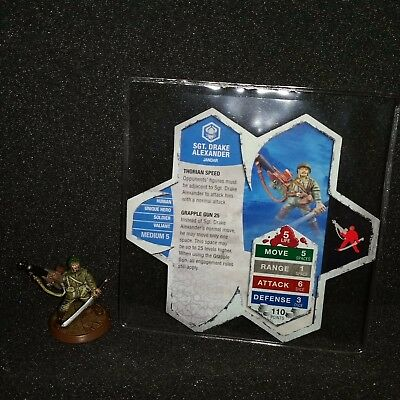 Official Heroscape Sgt. Drake Alexander Rise of the Valkyrie Figure w/ Card Used
