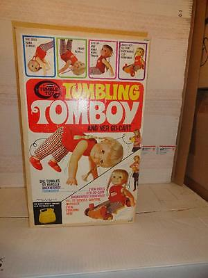 1969 Remco Tumbling Tomboy Doll And Her Go-Cart New In Box Unused