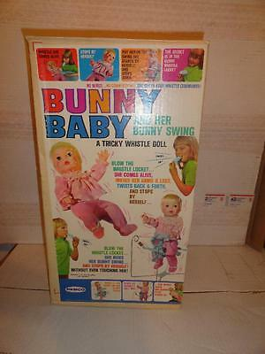1969 Remco Bunny Baby Doll And Her Bunny Swing New In Box Unused
