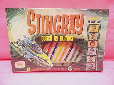 1964 Gerry Anderson's Stingray Pencil By Number Coloring Set Mint In Box Sealed