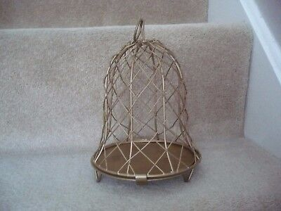 A Terrific Dome / Bell Shaped Metal Display Cage Free Standing Or Hanging