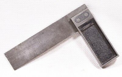 """Vintage 4"""" Iron & Steel Try Square (INV E198)"""