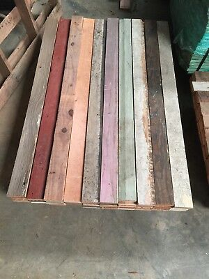 Antique Reclaimed 100 Year Old Heart Pine Wood  Original Colors