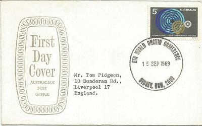 AUSTRALIA FDC-1969 6th WORLD ORCHID CONFERENCE