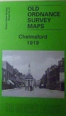 OLD ORDNANCE SURVEY MAPS CHELMSFORD  ESSEX 1919 Sheet 54.15 Godfrey Edition New