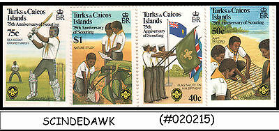 TURKS & CAICOS - 1982 75th ANNIVERSARY OF SCOUTIND / SCOUT - 4V - MNH