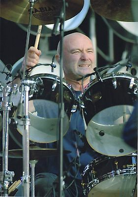 Phil Collins Photo Unique Unreleased Image Wembley Exclusive Huge 12 Inchs  Gem