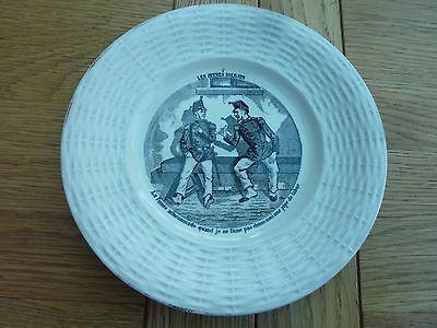 "1900c ORIGINAL FRENCH 7 INCH CHINA PLATE ""LES JEUNES SOLDATS"""