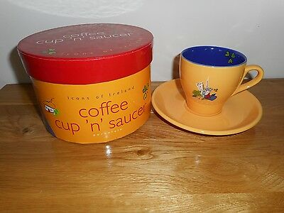NEW Boxed Irish John Hinde Icons of Ireland Porcelain Coffee Cup 'n' Saucer