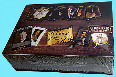 SUPER BREAK PIECES OF THE PAST 2017 Factory SEALED Box Historical Trading Cards