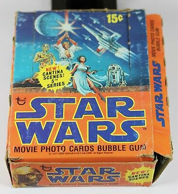 1977 Topps Star Wars Series 5 Wax Box Trading Cards - 36 Sealed Unopened Packs