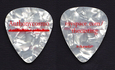 Boston Anthony Cosmo White Pearl Guitar Pick