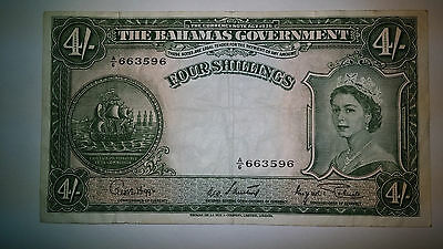 The Bahamas Government, 4 Shillings Banknote, 1936