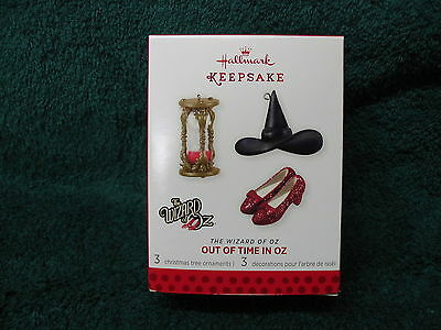 "Wizard of Oz ""Out of Time in Oz"" Limited Hallmark Ornament 2013 Ruby Slippers"