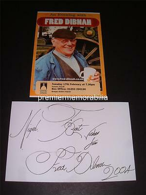 Fred Dibnah Signed (Printed)  Steeplejack Engineer Tv Cult