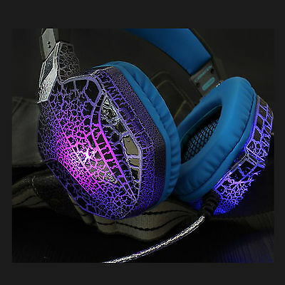 Gaming CT-820 PC Computer CS Headphones Headset Microphone with LED Light