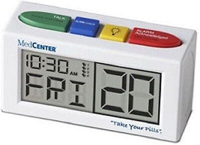 NEW MedCenter Take Your Pills Talking Alarm Clock Pill Reminder