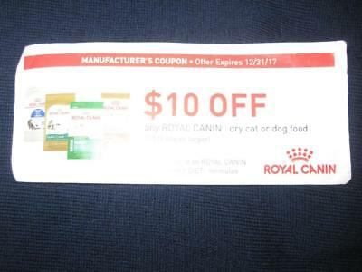 Royal Canin Dry Cat or Dog Food Coupon $10