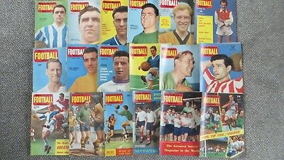 19 Charles Buchan's  Football Monthly Magazines various 1960 1961 1962