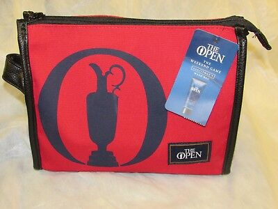 *LOOK* BNWT M&S - The Open Golf Toiletries BAG with Goodies & Scorecard FREE P+P