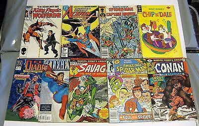 Comic Collection Lot #1  (9) Spidey/Superman/Doc Savage/Conan Great Deal