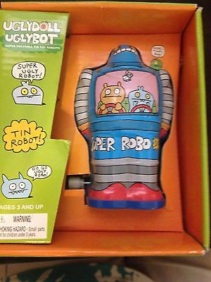 Look At This In Box Uglydoll Uglybot Tin Blue Robot Toy With Free Shipping