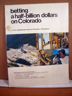 Advertisement Booklet, Molybdenum Mine in Colorado