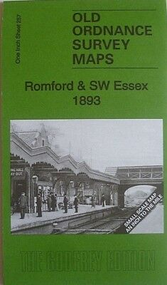 OLD ORDNANCE SURVEY MAP ROMFORD & SW ESSEX & PLAN SOUTH OCKENDON  1893 Sheet 257
