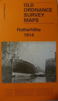 Old Ordnance Survey Detailed Maps  Rotherhithe  London 1914 Godfrey Edition New