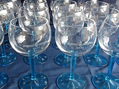 """Lot Of (2) Bombay Sapphire East """"balloon"""" Acrylic Goblets Bar Man Cave Gin Party"""
