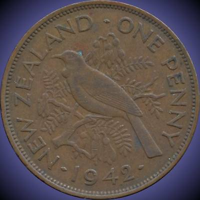 1942 New Zealand 1 Penny Coin
