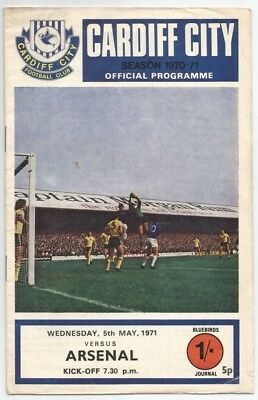 70/71 Cardiff City v Arsenal FA Youth Cup Final
