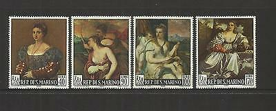 San Marino Italy ~ 1966 Paintings By Titian Set (Mint Mnh)