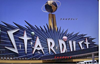 35 mm Color Slide of the Stardust Hotel & Casino Sign Las Vegas Street View 1969