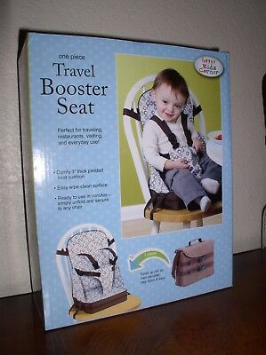 Kids Corner One Piece Travel Booster Seat Blue Espresso Color-#4741
